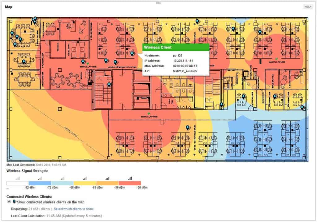 SolarWinds Wifi Heat Maps