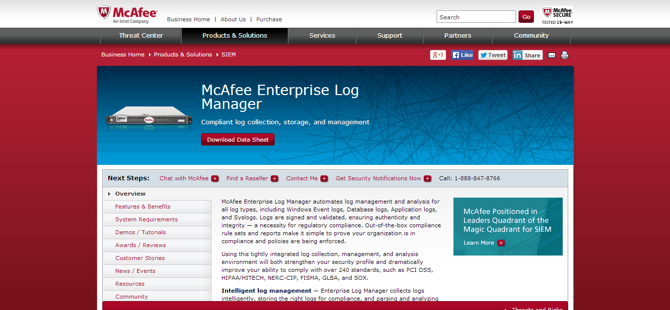 Image result for mcafee enterprise log manager