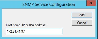 snmp add host