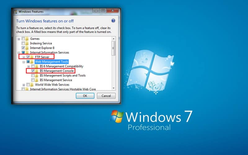 how to setup ftp server in windows 7
