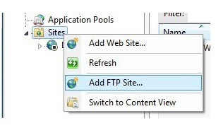 How to install Windows 7 ftp server installation